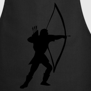 Black longbow archer medieval  Kids' Shirts - Cooking Apron
