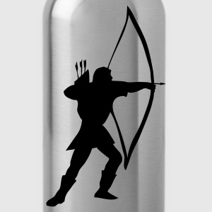 Black longbow archer medieval  Kids' Shirts - Water Bottle
