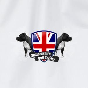 White/white staffbull union jack | Staffordshire Bullterrier Caps & Hats - Drawstring Bag