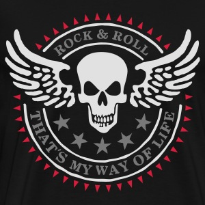 Black wingskull_3c Hoodies & Sweatshirts - Men's Premium T-Shirt