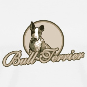White/white Bullterrier Puppy Caps & Hats - Men's Premium T-Shirt
