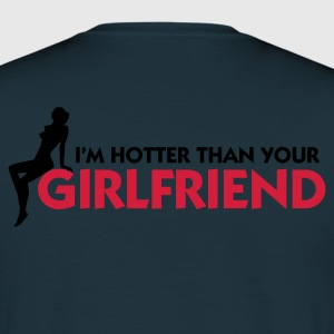 Marinblå Hotter than your Girlfriend (2c) Tröjor - T-shirt herr
