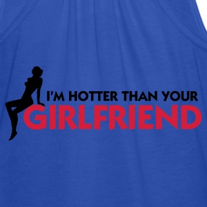 Granatowy Hotter than your Girlfriend (2c) Bluzy - Tank top damski Bella