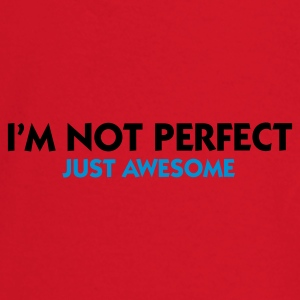 Rojo I'm not perfect - Just Awesome (2c) Ropa interior - Camiseta manga larga bebé