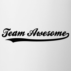Weiß Team Awesome (1c) T-Shirts - Tasse