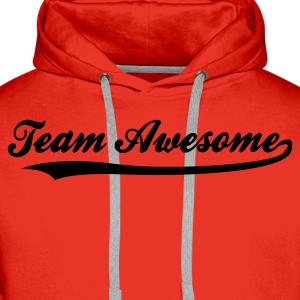 Rot Team Awesome (1c) Kinder T-Shirts - Männer Premium Hoodie