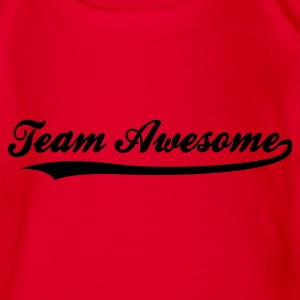 Röd Team Awesome (1c) Barn-T-shirts - Ekologisk kortärmad babybody