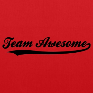 Rød Team Awesome (1c) Børne T-shirts - Mulepose