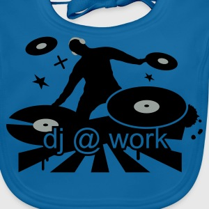 Royal blue DJ at work Kids' Shirts - Baby Organic Bib