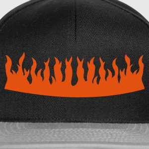 Sort brand krone / fire crown (1c) T-shirts - Snapback Cap