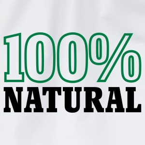 Weiß 100% Natural © T-Shirts - Drawstring Bag