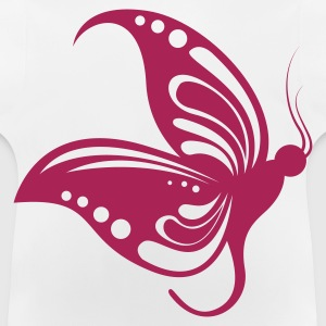 White butterfly1 1 color Kids' Shirts - Baby-T-shirt