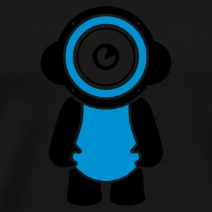 Sort electro minimal speakerdoll Sweatshirts - Herre premium T-shirt