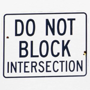 Do Not Block Intersection - Men's Premium T-Shirt