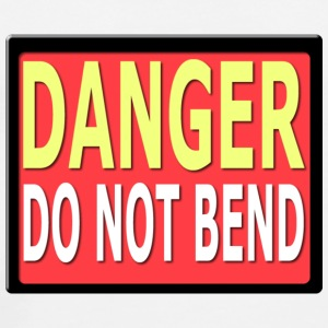 White Danger Do Not Bend Sign Underwear - Men's Premium T-Shirt