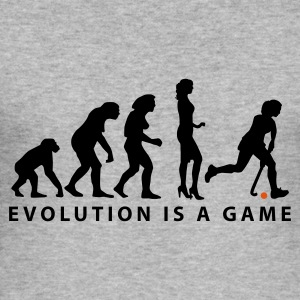 evolution_hockey_woman_b_2c Sweat-shirts - Tee shirt près du corps Homme