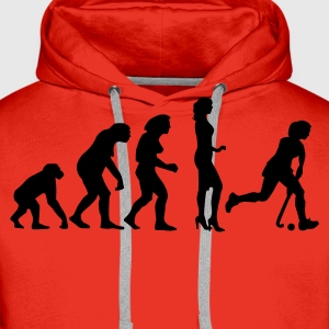 evolution_hockey_woman_a_1c Shirts - Men's Premium Hoodie