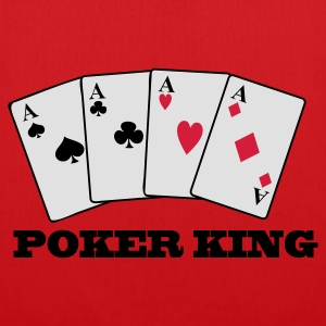 Röd 4 Aces - Poker KIng T-shirts - Tygväska