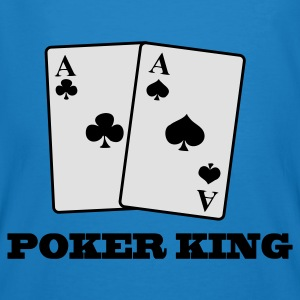 Påfågelblå aces spades and clubs - poker king Väskor - Men's Organic T-shirt
