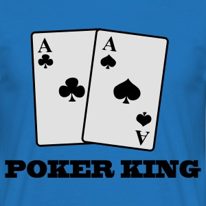 Kungsblå aces spades and clubs - poker king Väskor - T-shirt herr