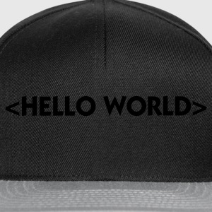 Black Hello World (1c) Underwear - Snapback Cap