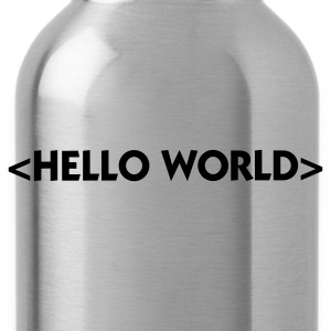 Rot Hello World (1c) Baby Body - Trinkflasche
