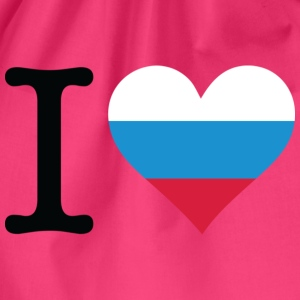 Neon pink I Love Russia 1 (DD) T-shirts - Gymtas
