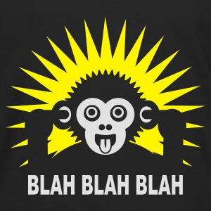 Black Blah blah blah - Ape - dark shirt Kids' Shirts - Men's Premium Longsleeve Shirt