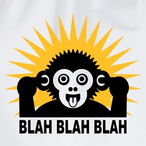 Wit/zwart Blah blah blah - aap - light shirt T-shirts - Gymtas
