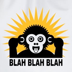 White Blah blah blah - Ape - light shirt Kids' Shirts - Drawstring Bag