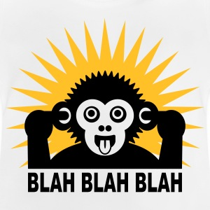 White Blah blah blah - Ape - light shirt Kids' Shirts - Baby T-Shirt