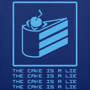 Navy THE CAKE IS A LIE T-Shirts - Stoffbeutel