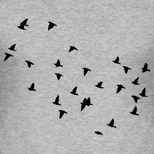 Heather grey Flock of birds Hoodies & Sweatshirts - Men's Slim Fit T-Shirt