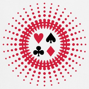 Wit poker star (2c) T-shirts - Keukenschort