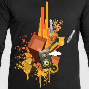 Black DJ design Men's T-Shirts - Men's Sweatshirt by Stanley & Stella