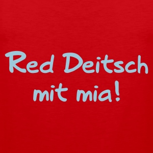 Red Deitsch mit mia T-Shirts - Männer Premium Tank Top