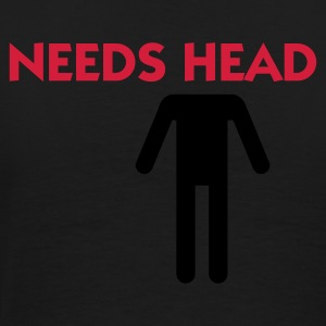 Black Needs Head (2c) Polo Shirts - Men's Premium T-Shirt