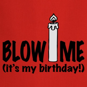 Rood Blow me, it's my birthday T-shirts - Keukenschort