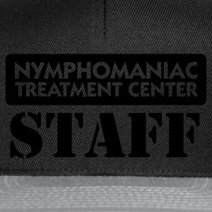 Nero Nymphomaniac Center Staff (1c) T-shirt - Snapback Cap