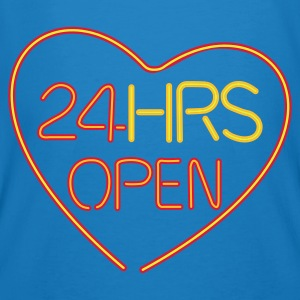 Neon: 24 HRS open heart  - Økologisk T-skjorte for menn