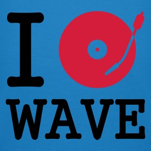:: I dj / play / listen to wave :-:  - Mannen Bio-T-shirt