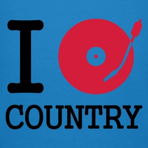 :: I dj / play / listen to country :-:  - T-shirt ecologica da uomo