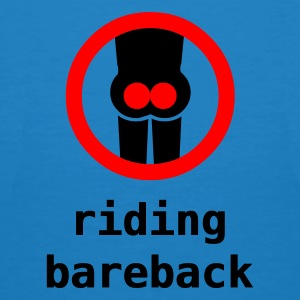riding bareback hurts - Økologisk T-skjorte for menn