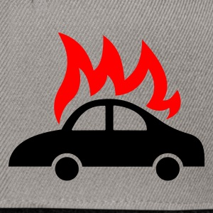 burning car  - Snapback Cap