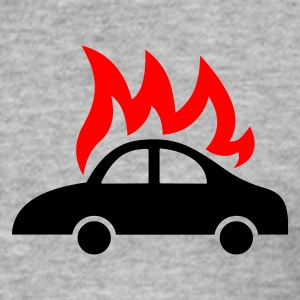 burning car  - Tee shirt près du corps Homme
