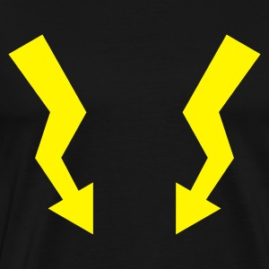 Flashes - Lightning  - Männer Premium T-Shirt