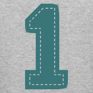 number one patch  - Männer Slim Fit T-Shirt