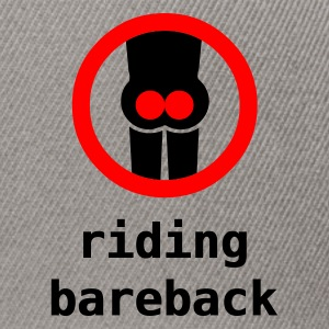 riding bareback hurts - Snapback Cap