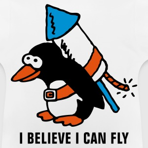 rocket_pinguin_white_b_3c Shirts - Baby T-shirt