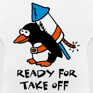 rocket_pinguin_white_c_3c Shirts - Baby T-shirt
